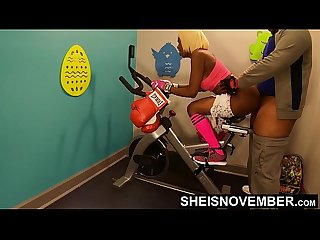 Anal Ass Deep Fuck Big Butt In Public Gym By BBC On Exercise Bike , Black Spinner Msnovember..