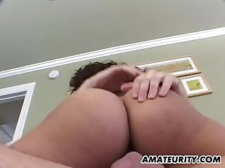 Amateur hairy Latina girlfriend anal with facial cumshot
