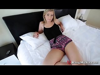 Brother rams his cock inside prankster slut stepsis pussy