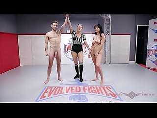 Charlotte Cross naked wrestling fight fucked hard by Jake Adams