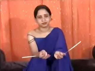 New indian Bhabhi putting wax all over her body hindi audio