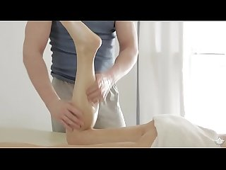 Hot blonde catania fucks on massage table
