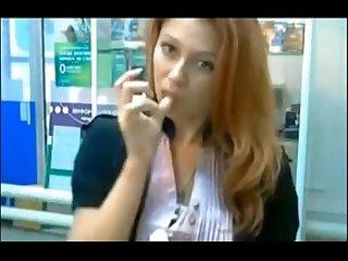Russian Cam Girl At Work - hothornycamgirls.com