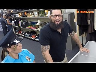 Ms police officer with big boobs got fucked with pawn man