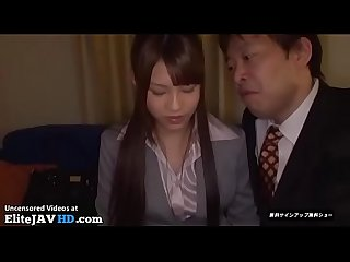 Jav secretary fucked rough by his boss more at elitejavhd com