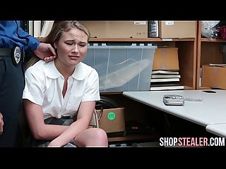 Gorgeous shoplifter alyssa cole sucks dick and stuffed