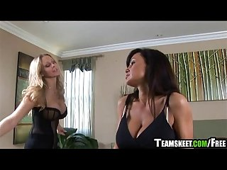 Lisa ann and julia ann give me the whispering eye