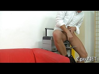 Blowjob for adorable homo stud