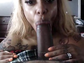 Huge tattooed boobs black milf titjob for bbc
