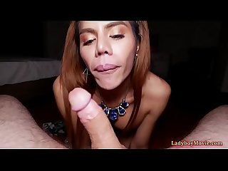 Asian Shemale Winnie Blowjob And Bareback