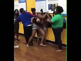 Walmart fight huge boobs
