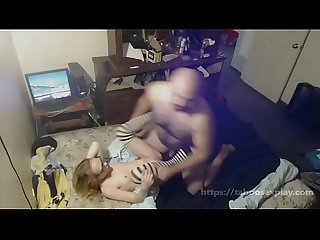 Dad Pinned Down Teen Daughter Forcing Her To Fuck