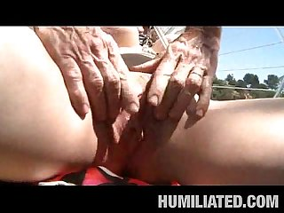 Busty june s husband humiliates her