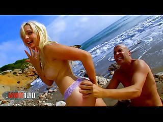 French pornstar angell summers anal fuck at the beach