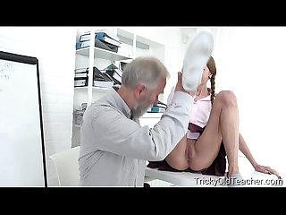 Tricky old teacher student paris devine fucked by old teacher