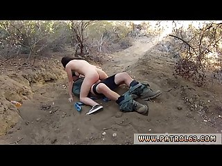 Rough hardcore painful anal mexican border patrol agent has his own