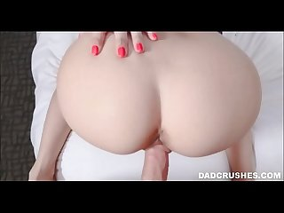 Tiny Blonde Young Teen Stepdaughter Seduces Her Daddy In His Bed POV