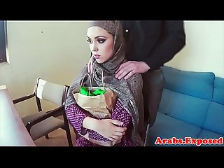 Real muslim babe tastes hot cum for cash