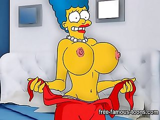 Futurama and Simpsons parody hentai