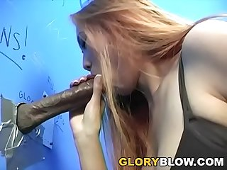 Busty asian sin eye gives blowjob to a bbc gloryhole