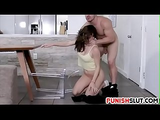 Teen loves rough treatment from big cock