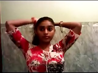 Sexy indian teen girl bathing