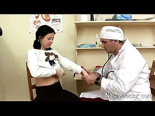 Shy girl gets her first gyno exam