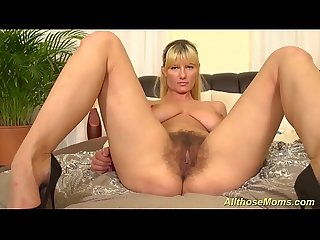 extreme hairy mom alone at home