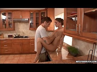 Tori black fucked in kitchen