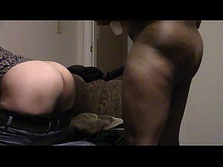 Younger buddy with 10 inch bbc pounds my white ass has me groaning in intense pleasure and pain
