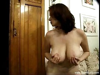 Big natural boobs brunette