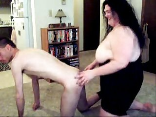 Fat BBW licking her husband asshole on webcam - more webcam sluts on CAMSBARN.COM