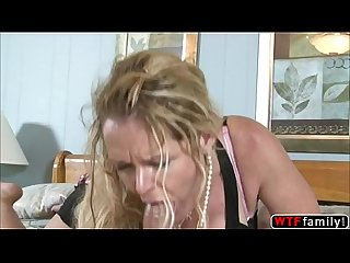 Horny curly milf kelly leigh nailed by her stepsons huge monster cock