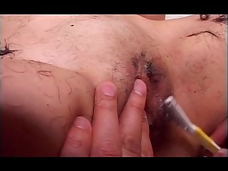 Teen asian in college gets fuck holes shaved and fucked hard