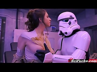 Stella Cox got her pussy smashed in Star Wars porn parody