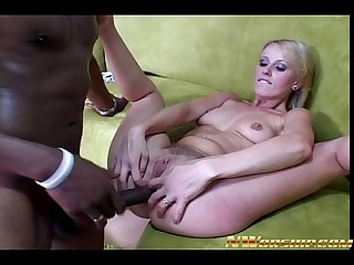 Anal interracial Sex blonde Teen slut big black cock