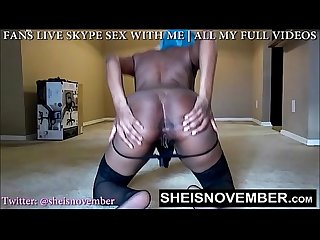Big saggy tit whore Msnovember crawling with Hanging natural boobs in stockings