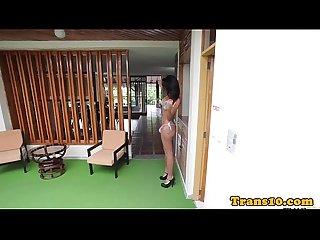 Brazilian tranny posing in sexy bikini bts