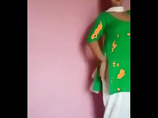 Www period nowwatchtvlive period org Indian Desi girl dance in green dress