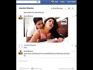 Real desi indian bhabhi jeevika sharma gets seduced and rough fucked on facebook chat