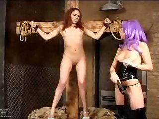 Bound and spanked