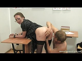 Russian mature teacher 12 elena anathomy lesson
