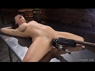 Busty bound Milf is machine banged