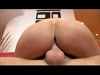 Sweaty brunette Chanel White's puckered butt split by big cock