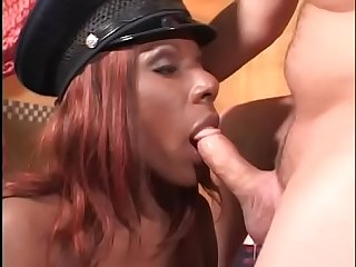 White stud in glasses fucks black Busty bitch then gives her facial