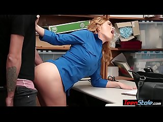 Frustrated MILF LP officer orders a suspect to fuck her