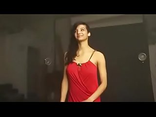 Desi girl photoshot in red dress