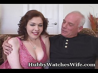 Horny redheaded wife takes black