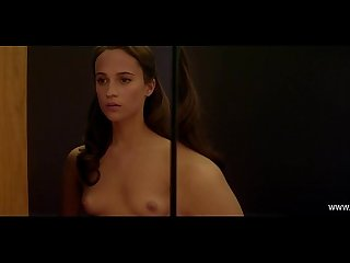 x alicia vikander full frontal naked robot ex machina www celeb today