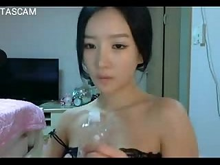 Korean beautiful Girl oil sexy on Webcam